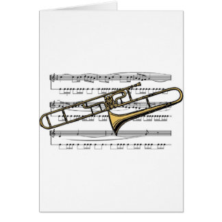 Trombone Musical 14 B Greeting Card