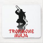 Trombone Ninja Mousepads