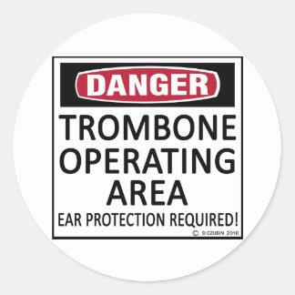 Trombone Operating Area Classic Round Sticker