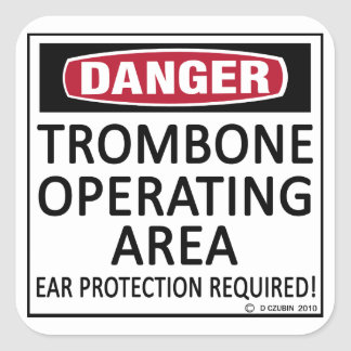 Trombone Operating Area Square Sticker