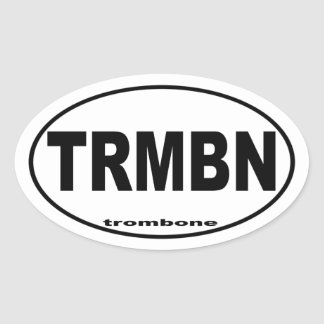 Trombone Oval Sticker