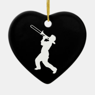 """""""Trombone Player"""" design gifts and products Ceramic Heart Decoration"""