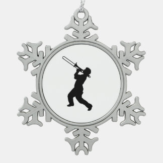 """""""Trombone player"""" design gifts and products Snowflake Pewter Christmas Ornament"""