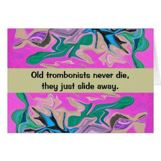 trombone player humor greeting card