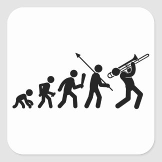 Trombone Player Square Sticker