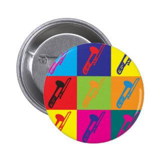 Trombone Pop Art 6 Cm Round Badge