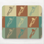 Trombone Pop Art Mouse Pads