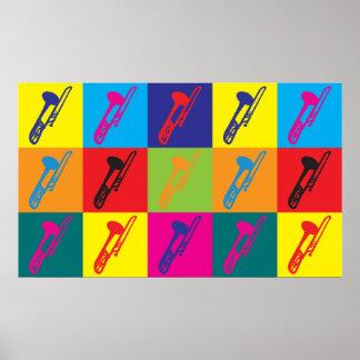 Trombone Pop Art Print