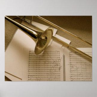 Trombone poster print