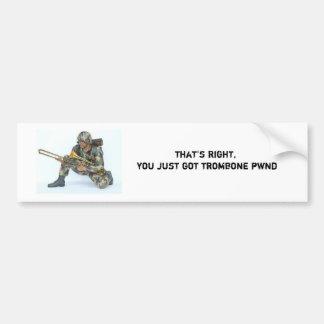 Trombone pwn bumper sticker