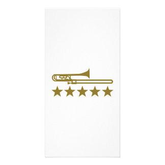 Trombone stars photo card