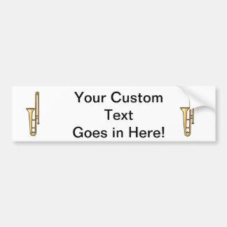 trombone upright graphic bumper sticker