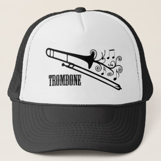 Trombone Vector Design Trucker Hat