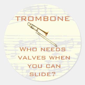 Trombone:  Who needs valves?  Sticker
