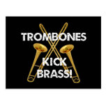 Trombones Kick Brass! Postcard