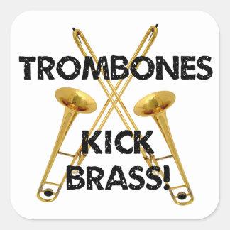 Trombones Kick Brass! Square Sticker