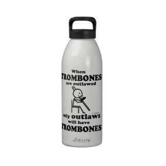 Trombones Outlawed Reusable Water Bottles