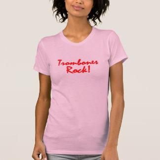 Trombones Rock - Red Lettering T-shirts