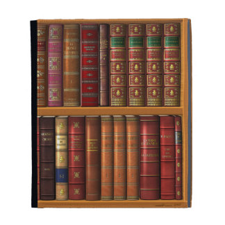Trompe l oeil French library iPad Folio Covers