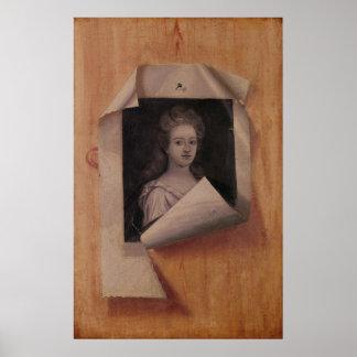 Trompe l Oeil Portrait of a Lady Print