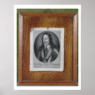 Trompe L Oeil Still Life of a Print of Charles I