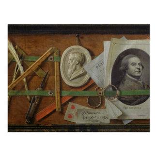 Trompe l'Oeil, 1785 Postcard