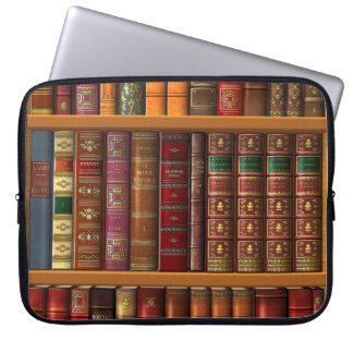 "Trompe l'oeil ""French library"". Laptop Sleeve"