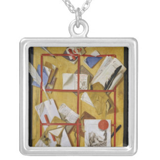 Trompe l'Oeil Silver Plated Necklace
