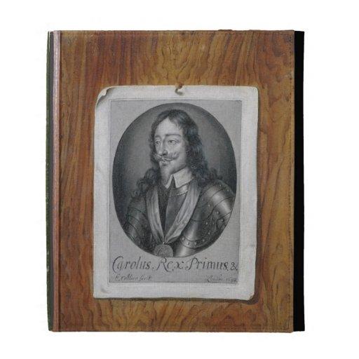 Trompe L'Oeil Still Life of a Print of Charles I ( iPad Folio Cases