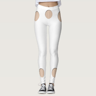 Trompe l'oeil with Circle holes for skin tone W Leggings