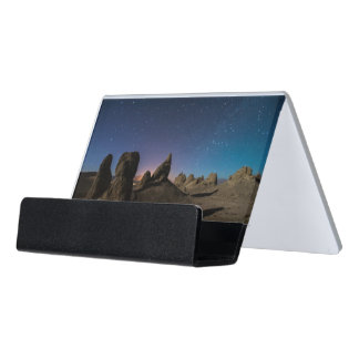 Trona and the Milky Way Desk Business Card Holder