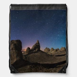 Trona and the Milky Way Drawstring Bag