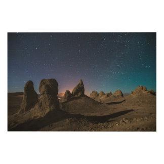 Trona and the Milky Way Wood Wall Decor