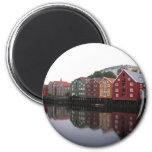 Trondheim, Norway 6 Cm Round Magnet