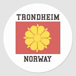 Trondheim, Norway Round Sticker