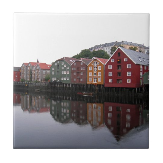 Trondheim, Norway Small Square Tile