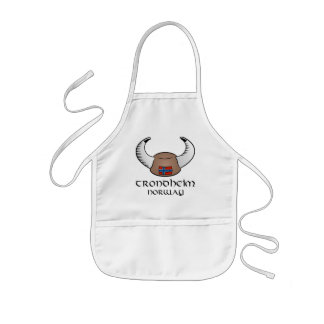 Trondheim Norway Viking Hat Kids Apron