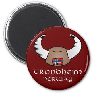 Trondheim Norway Viking Hat Magnet