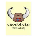Trondheim Norway Viking Hat Post Cards