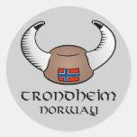 Trondheim Norway Viking Hat Stickers
