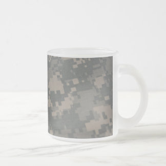 Troops Freedom Combat Boots Camouflage Pattern Frosted Glass Mug
