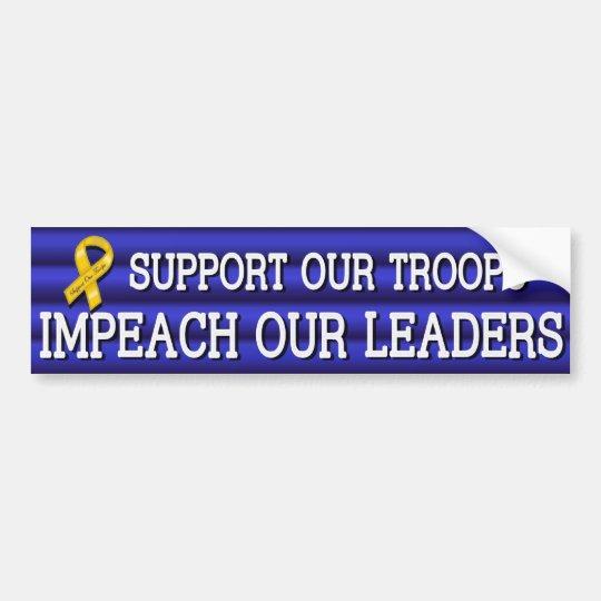 Troops Leaders Sticker Blue