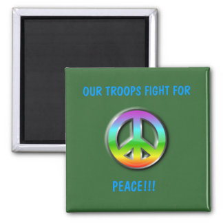 Troops Peace Magnet