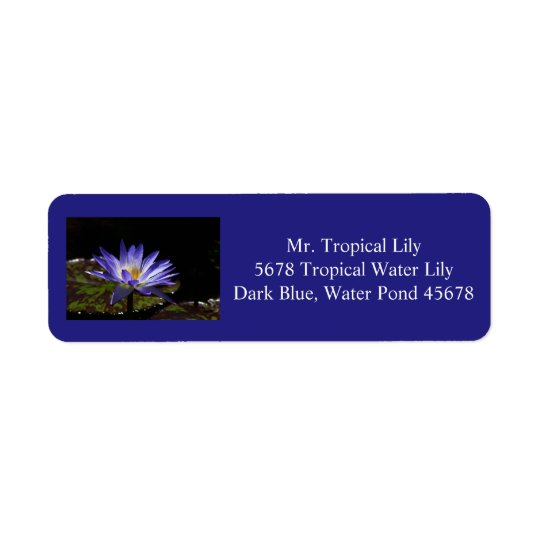 Trop Water lily Address labels 1 2016