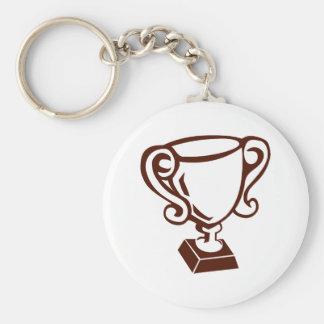 Trophy Basic Round Button Key Ring