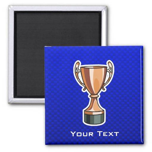 Trophy; Blue Fridge Magnets