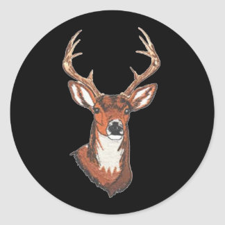 Trophy Buck Rack Mount Round Sticker