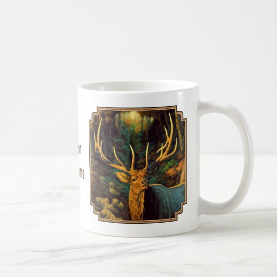 Trophy Bull Elk in Autumn Coffee Mug