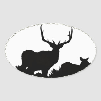 Trophy bull oval sticker