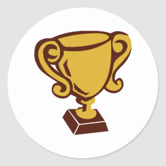 Trophy - Cup Classic Round Sticker